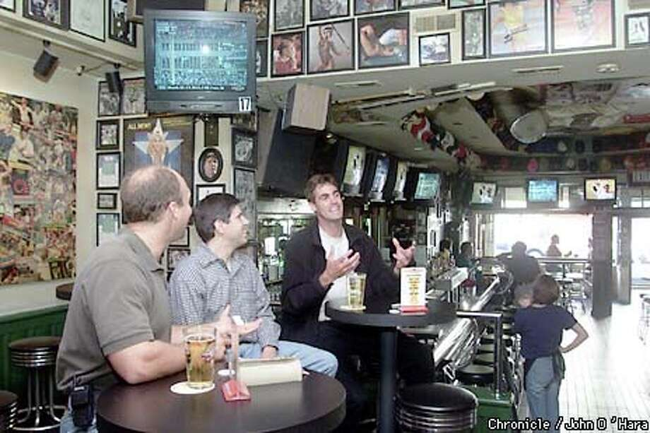 With the TV always on and sports mementos covering every inch of the walls, Greens Sports Bar on Polk Street is one of the best watering holes for fanatics. Chronicle photo by John O'Hara / Chronicle