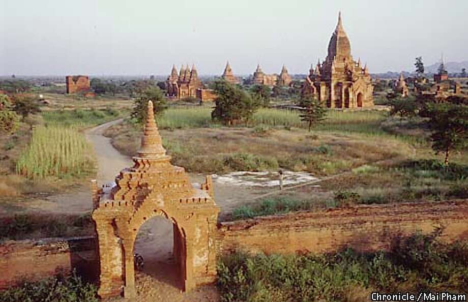 Thousands of ancient pagodas, like these in Pagan, dot the Burmese landscape. Photo special to the Chronicle by Mai Pham