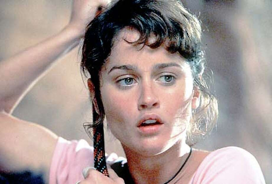 "Robin Tunney when she's trapped on K2 in ""Vertical Limit."" Publicity photo"