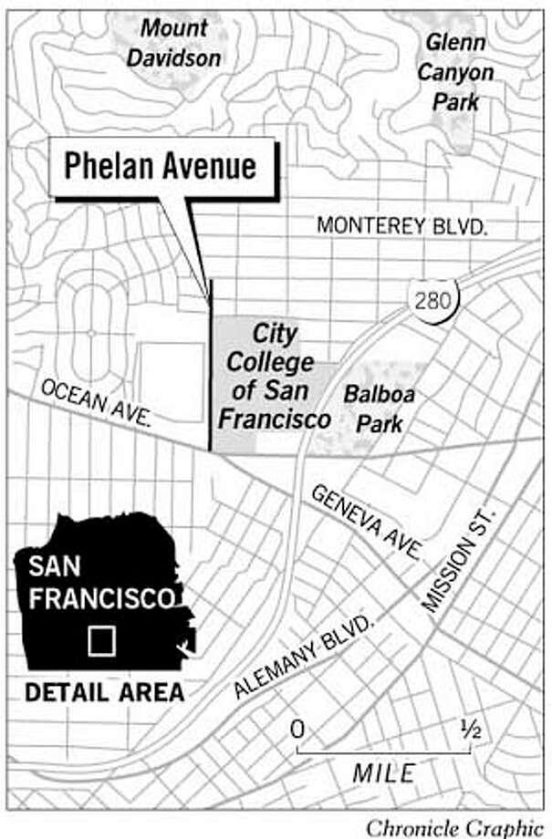 Phelan Avenue. Chronicle Graphic
