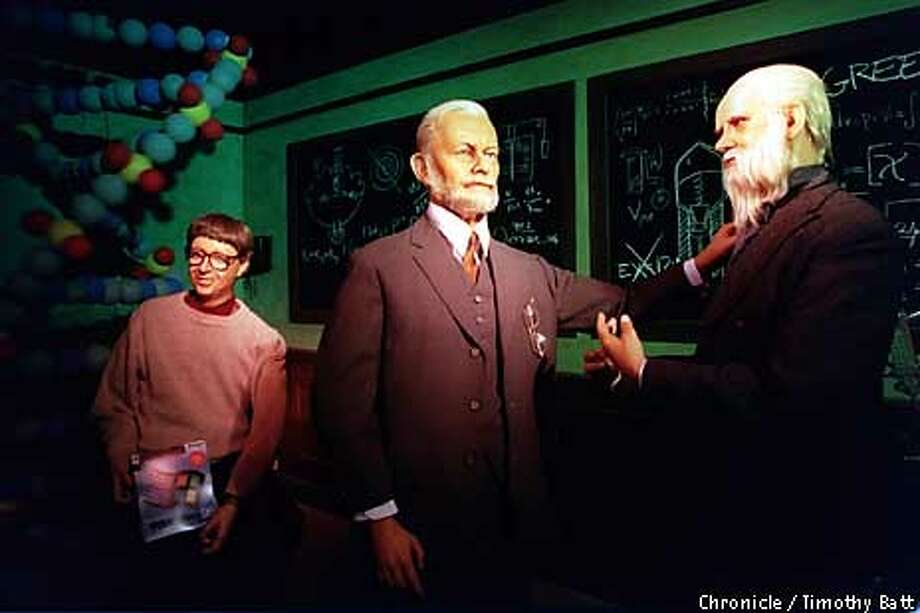 Bill Gates, Sigmund Freud and Sir isaac Newton Dispalyed at the Wax Museum. Chronicle Photo by Timothy Batt