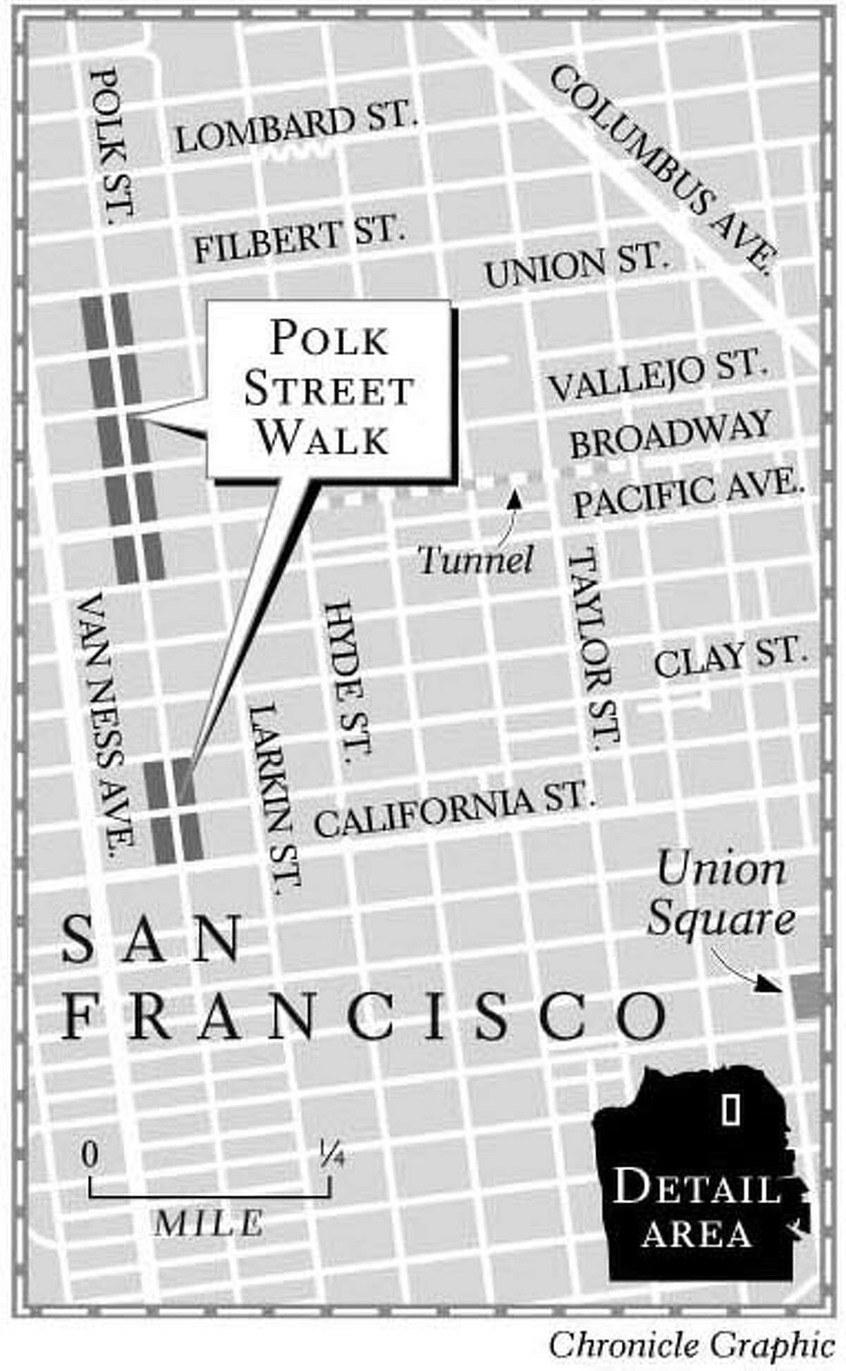 Detail of Polk Gulch walking area.