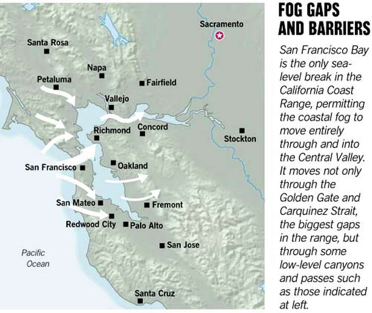 Fog Gaps and Barriers. Chronicle Graphic by Joe Shoulak