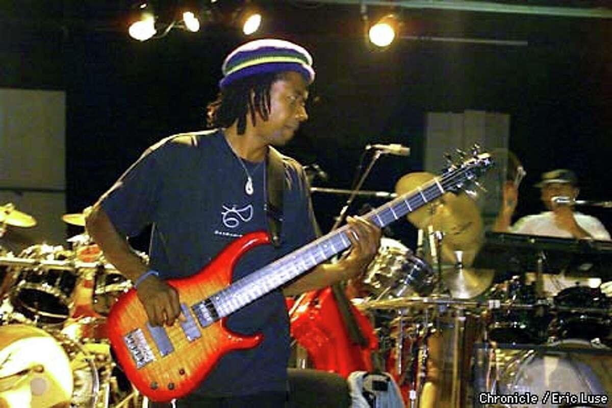 Bassist Alphonso Johnson rehearsed with members of the Grateful Dead in Novato for the Furthur tour. Chronicle photo by Eric Luse