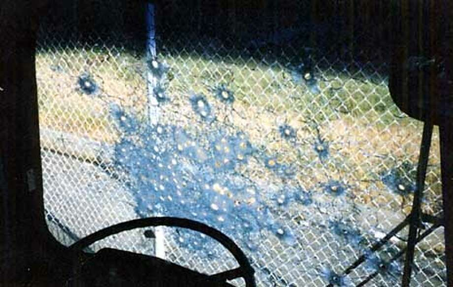 By the time the training session ended, the windshield of the old donated bus had been riddled with bullet holes. Special to the Chronicle