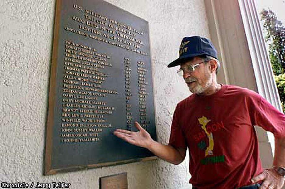 McDonald spearheaded Berkeley's drive for a plaque honoring the city's fallen, as well as an interactive Internet web site. Berkeley War Memorial Building - Berkeley, CA Chronicle Photo by Jerry Telfer