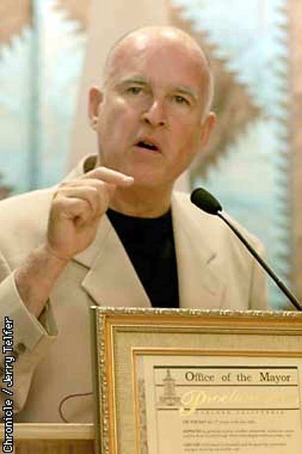 Among the highlights of Oakland Mayor Jerry Brown's trip were two lengthy meetings with Fidel Castro -- not part of the itinerary approved by the U.S. State Department. Chronicle photo by Jerry Telfer / CHRONICLE