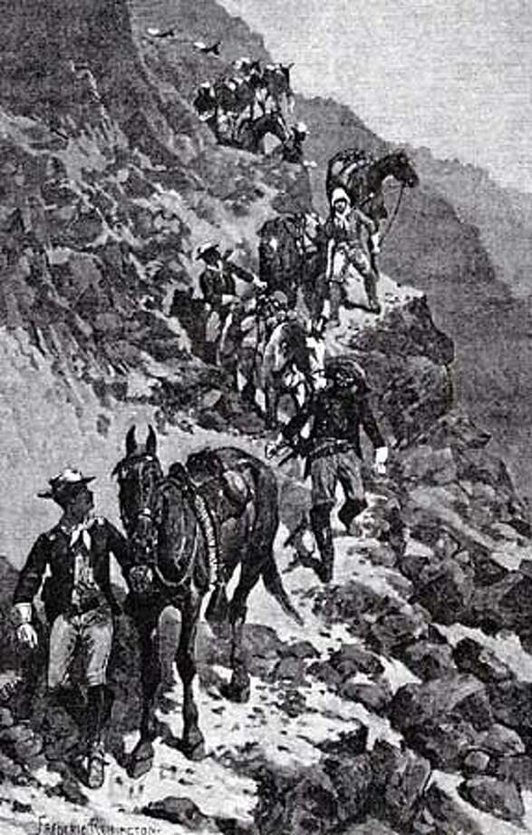 "This depiction of Buffalo Soldiers is William Loren Katz's book ""The Black West."" Chronicle photo by Michael Macor"