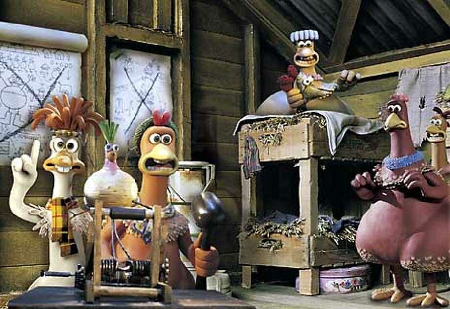 "A hen named Ginger and her coop mates plot their escape from a Yorkshire farm in ""Chicken Run,"" a clay animation adventure from the creators of the Wallace & Gromit shorts / CHRONICLE"