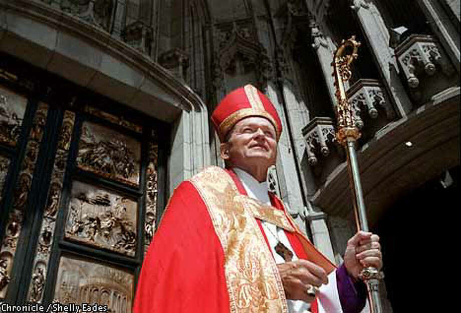 Episcopal Bishop William Swing secured local Roman Catholic support but has yet to receive the Vatican's blessing. Chronicle photo by Shelley Eades