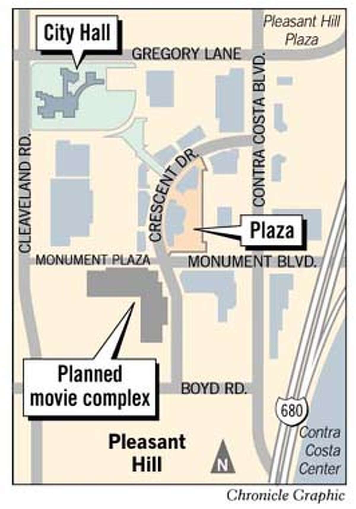 Downtown Pleasant Hill. Chronicle Graphic