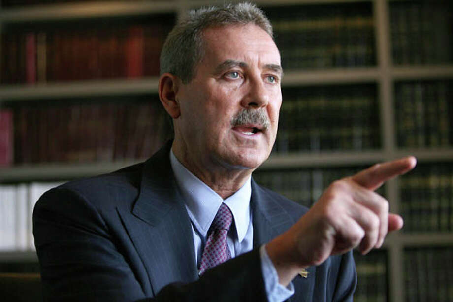 R. Allen Stanford in the office of Dick DeGuerin, the Houston attorney he had hoped to hire, during an interview on April 19, 2009. (Mayra Beltran / Houston Chronicle)