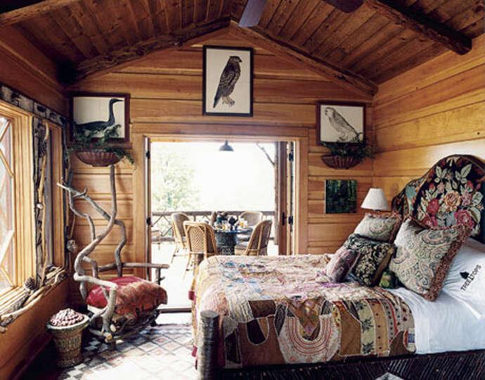 Деревенская спальня фото