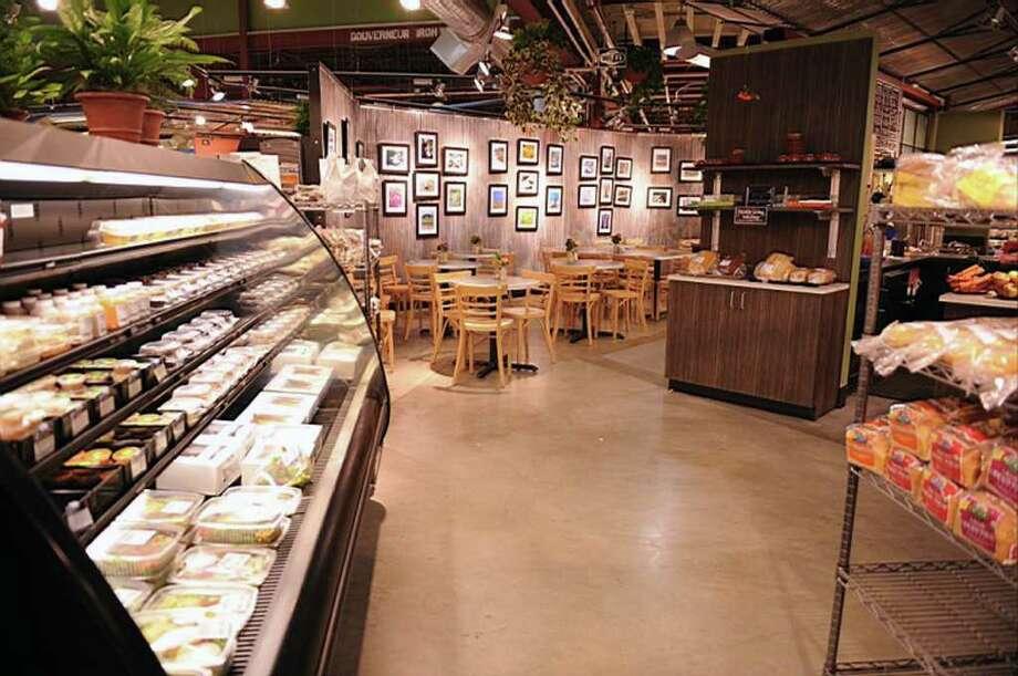 Interior of the original Healthy Living Market and Cafe in South Burlington, VT.  (Courtesy Healthy Living Market)