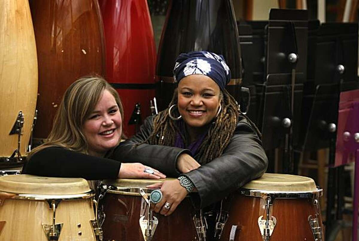 Jazz vocalists Trelawny Rose (left) and Amikaeyla are seen in Berkeley, Calif., on Thursday, Jan. 13, 2011. The duo have recorded a CD of music as a tribute to the late singer Eva Cassidy.