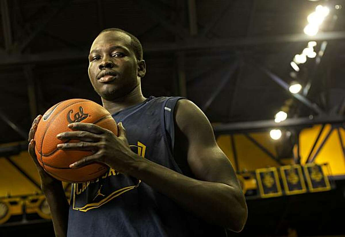 CAL men's basketball player, Bak Bak from Sudan, following practice, on Thursday Dec. 30, 2010, in Berkeley, Ca.