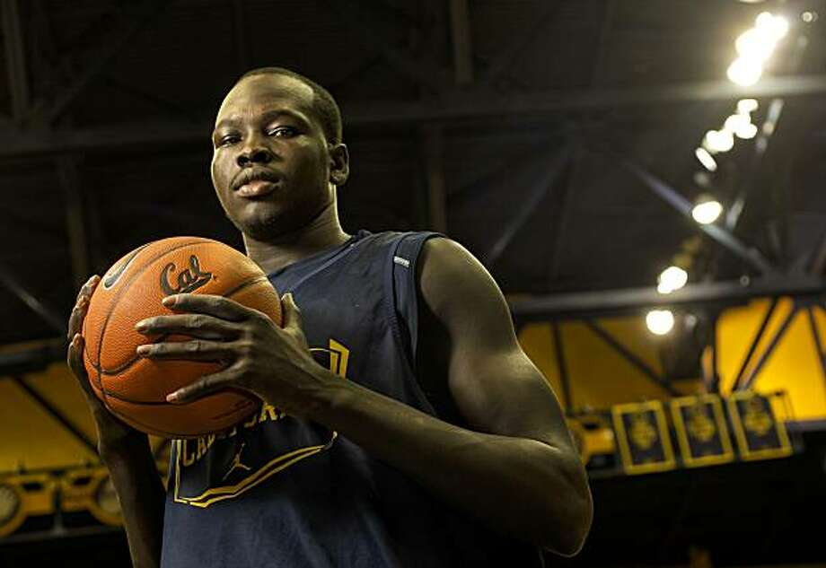 CAL men's basketball player, Bak Bak from Sudan, following practice, on Thursday Dec. 30, 2010, in Berkeley, Ca. Photo: Michael Macor, The Chronicle