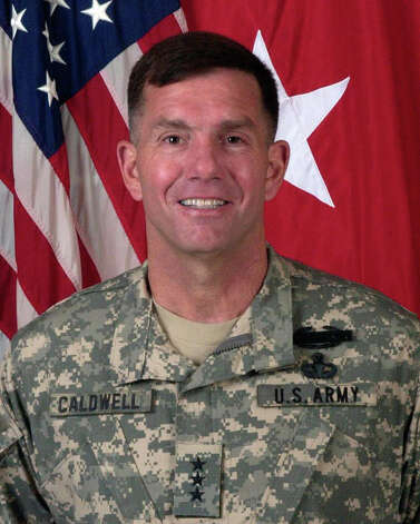 Lt. Gen. William B. Caldwell IV is commanding general  of U.S. Army North (5th Army) and senior commander of Fort Sam Houston  and Camp Bullis. His father, retired Lt. Gen. William B. Caldwell III,  is a proud Vietnam veteran and also a former commander of 5th Army at  Fort Sam Houston. Photo: Courtesy