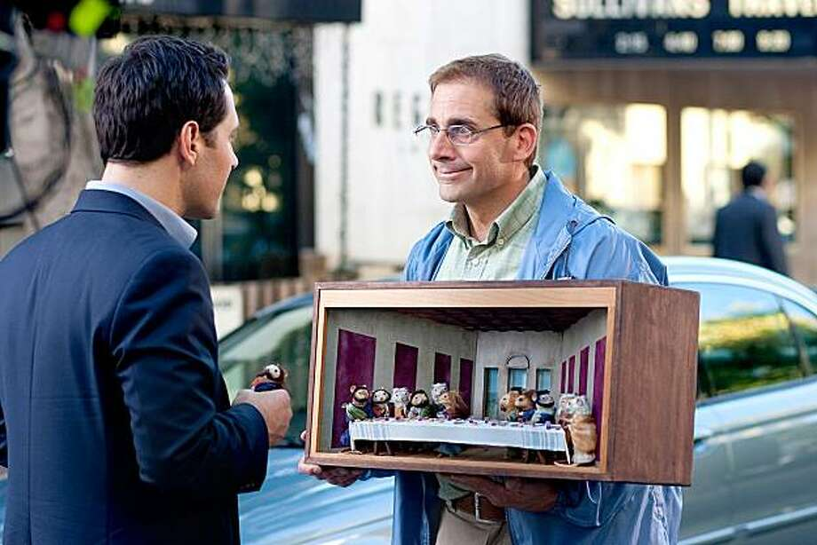 """Paul Rudd and Steve Carell appear in a scene from, """"Dinner for Schmucks."""" Photo: Paramount Pictures"""