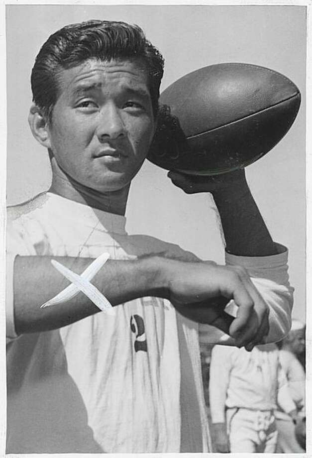 Wally Yonamine shown with the 49ers in 1947. He was a running back with the team for one season.  Photo was taken: 7/28/1947. Photo: Joe Rosenthal, San Francisco Chronicle
