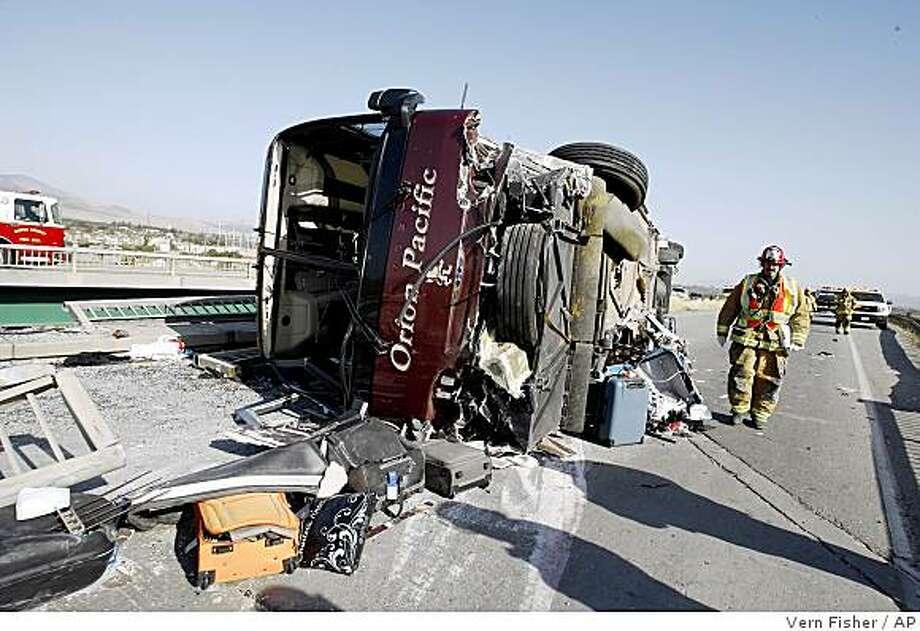 CHP: Blame driver in Soledad tour bus crash - SFGate