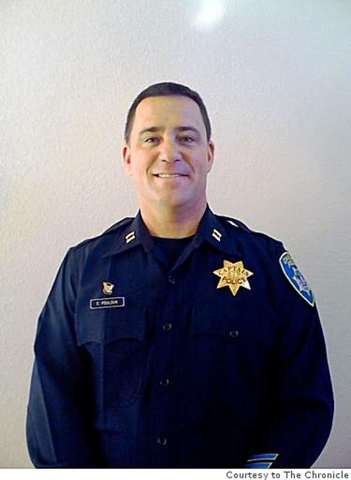 Oakland police Capt. Ed Poulson, whose conduct during and after a 2000 arrest in which a drug suspect died is under investigation by the FBI.