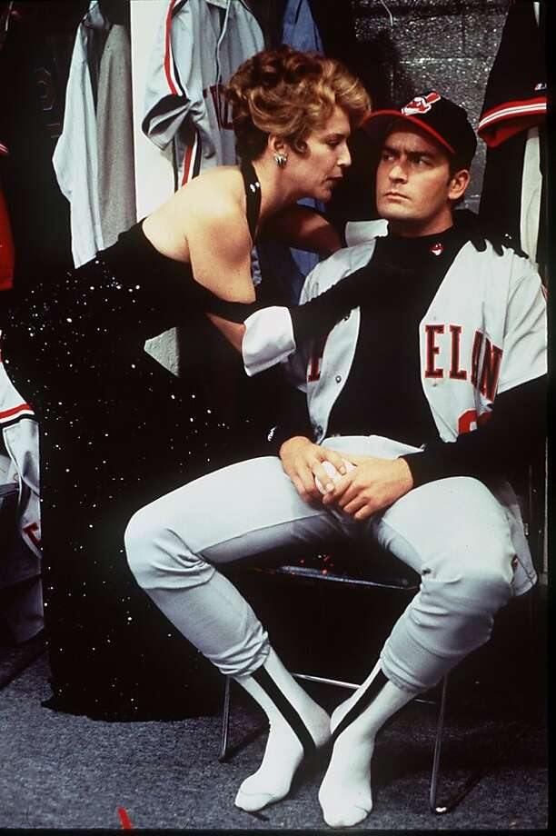 "Cleveland Indians team owner Rachel Phelps (Maragaret Whitton) gives her  version of a pep talk to pitcher Rick Vaughn (Charlie Sheen) in the  1989 movie ""Major League."" The tale of the 2012 Oakaland A's mirrors the movie, with a owner who attempts to lower attendance to allow the team to move. Photo: Courtesy Photo"