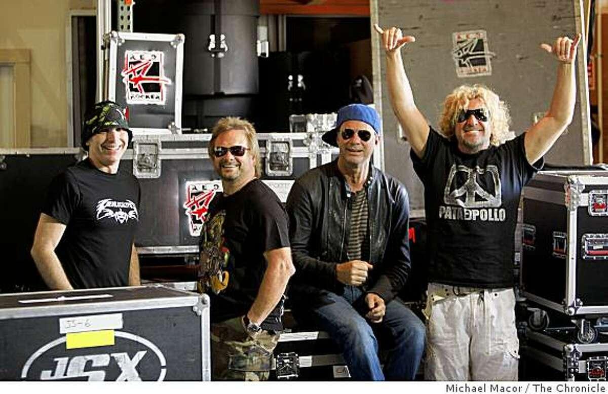 Band members, (left to right) Joe Satriana, Michael Anthony, Chad Smith and Sammy Hagar of