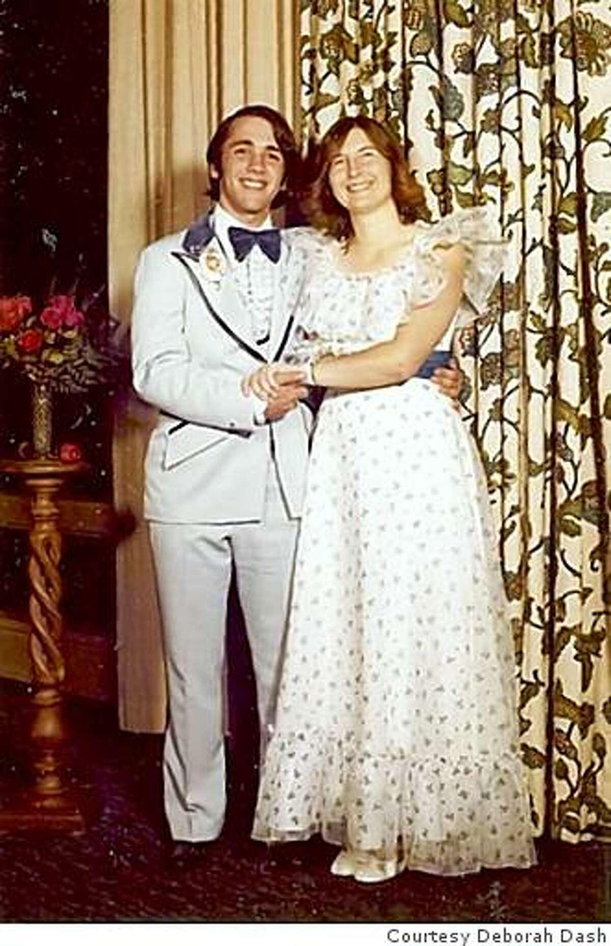 Deborah Dash with her now-husband at his 1978 Senior Ball.