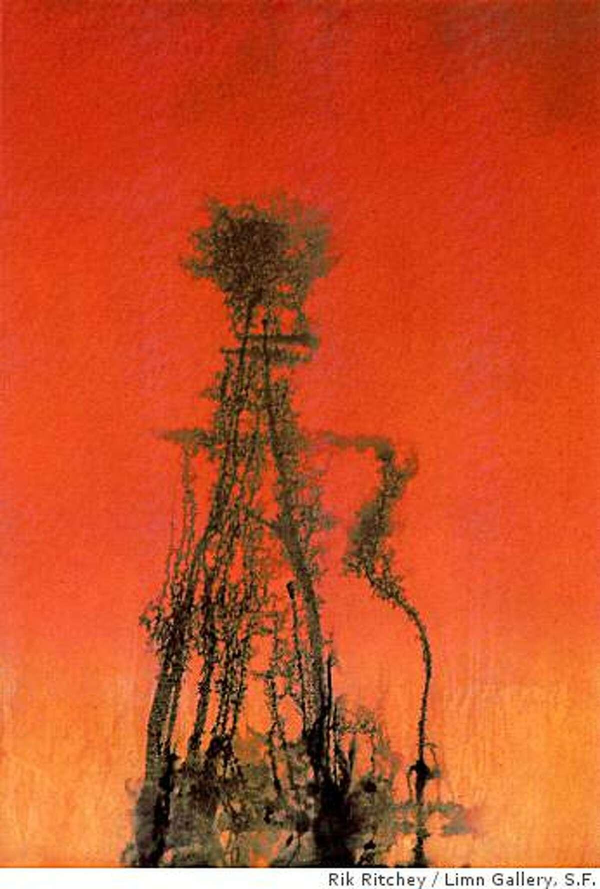 """""""Aneurysm"""" (1994) polyurethane and acrylic by Rik Ritchey76"""" x 54"""" x 1"""""""