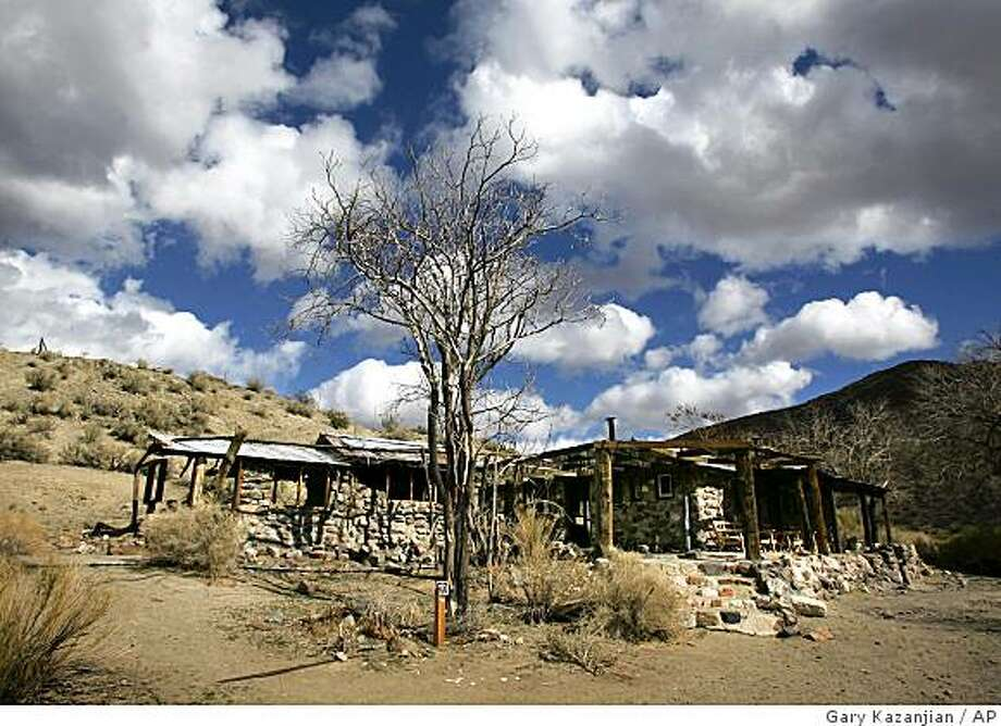 Barker Ranch, an abandoned desert cabin that was Charles Manson's last hideout after his notorious cult killings, was gutted by fire, a Death Valley National Park Service spokesman said Thursday. Photo: Gary Kazanjian, AP