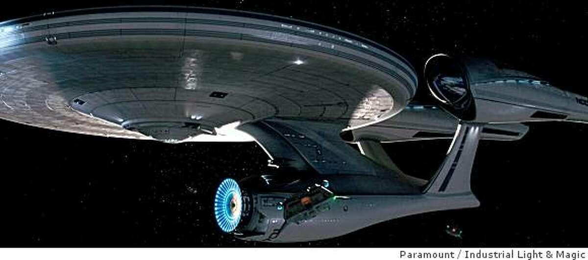 The Starship Enterprise in ?Star Trek.? (2009).Star Trek (2008) Directed by: J.J. Abrams