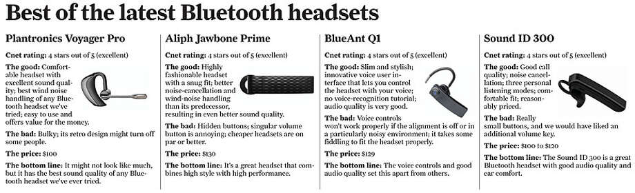 Best Of The Latest Bluetooth Headsets Sfgate