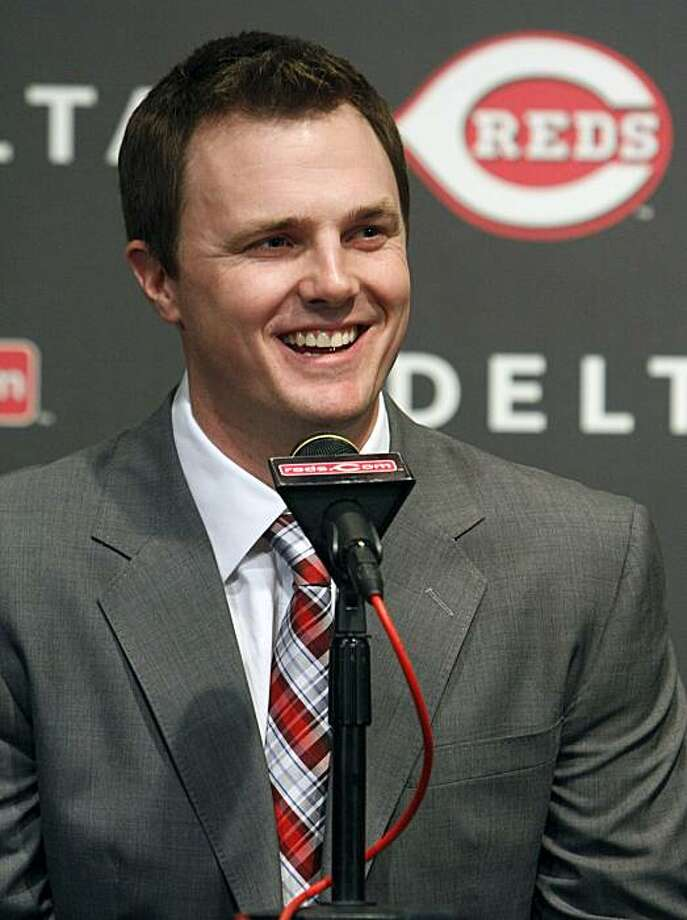 Cincinnati Reds outfielder Jay Bruce speaks during a news conference at Great American Ball Park, Tuesday, Dec. 14, 2010, in Cincinnati. Bruce was signed to a six-year contract through the 2016 season with a club option for 2017. Photo: David Kohl, AP