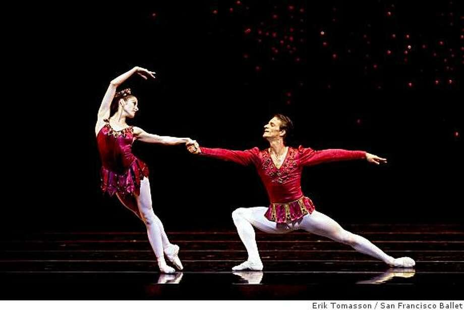 "Vanessa Zahorian and Pascal Molat in ""Rubies,"" from Balanchine's ""Jewels""Vanessa Zahorian and Pascal Molat in Balanchine's ""Rubies"". Photo: Erik Tomasson, San Francisco Ballet"
