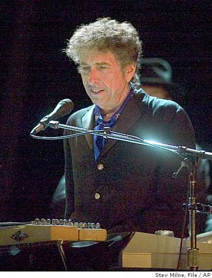 Bob Dylan performs as the kick-off act of the Pawtucket Arts Festival at McCoy Stadium, in this Thursday, Aug. 24, 2006 file photo, in Pawtucket, R.I. Photo: Stew Milne, File, AP