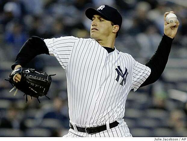 New York Yankees pitcher Andy Pettitte delivers against the Oakland Athletics in the first inning of a game Tuesday, April 21, 2009, at Yankee Stadium in New York. Photo: Julie Jacobson, AP