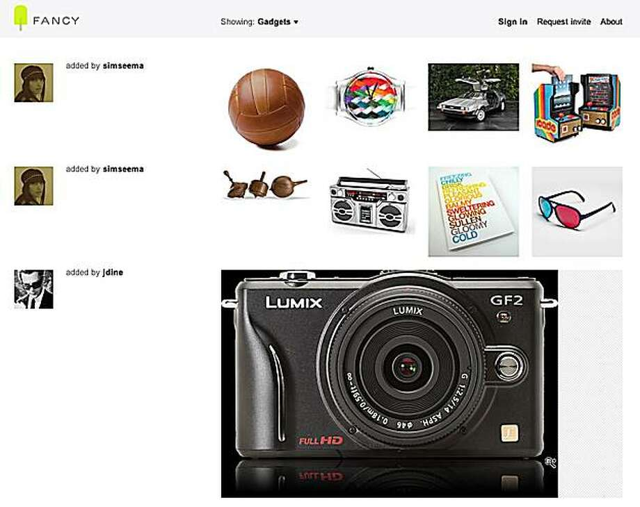 Screenshot from TheFancy.com showing the gadgets category. Photo: TheFancy.com