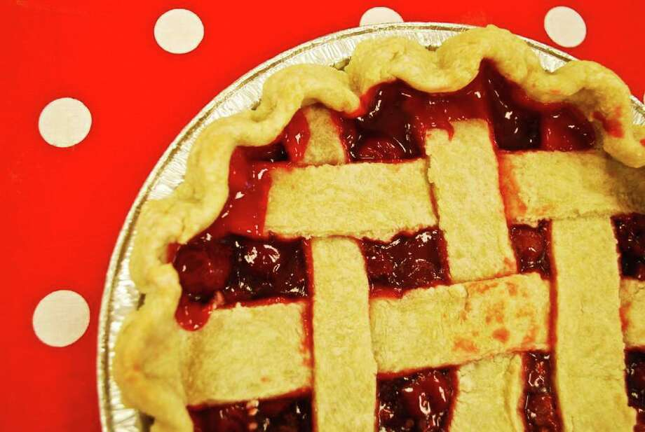"Kellen Tensen's ""Cherry Pie"" was on display at the Carriage Barn. Photo: Contributed Photo / New Canaan News"