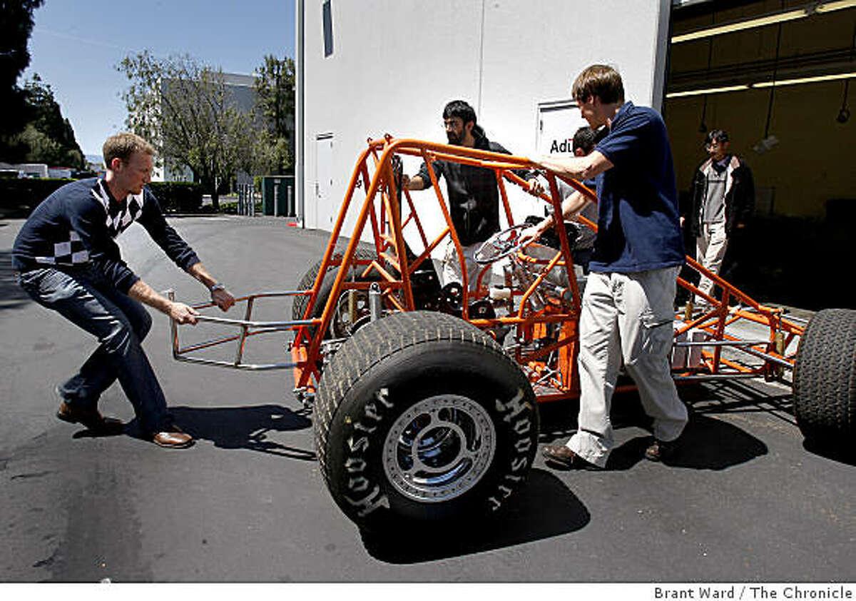 The Adura engineering team brings their engineering prototype named