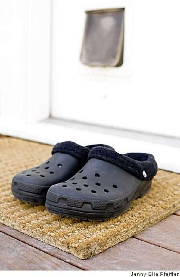 Justin Berton's Crocs, which he defends this week in the Style section. Photo: Jenny Elia Pfeiffer