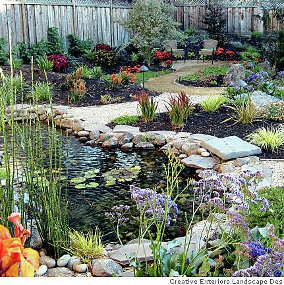 AFTER: tropical garden by creative exteriors landscape design. Photo: Creative Exteriors Landscape Des