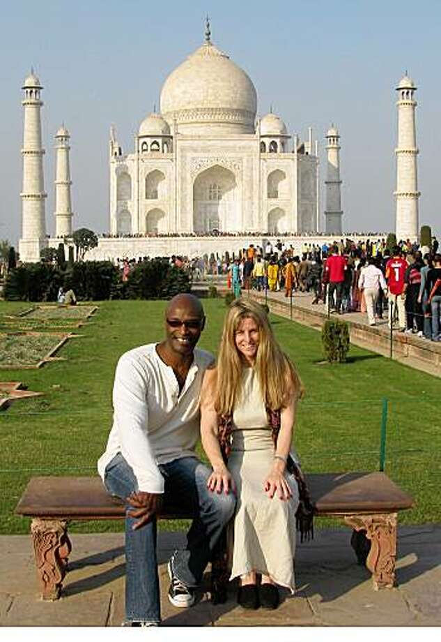 Alexandra Watkins, San FranciscoEmail: alexandra@eatmywords.comDaytime phone number: 415-552-7741Just back from: Northern India (Golden Triangle)I went because: To see the monumental sites like the Taj Mahal and the erotic sculptures at the Khajuraho Temples (pictured)Don't miss: Evening and morning boat rides on the Ganges River in VaranasiDon't bother: Paying full price for anything - bargain hard!Coolest souvenir: Miniature paintings from Udaipur, which had the best shopping in IndiaWorth a splurge: Nice hotels - the Trident hotels are excellentI wish I'd packed: A bathing suit - the hotel pools were very invitingOther comments: India gets an A  from us for sight-seeing, shopping, food and friendliness. We felt very safe there.Details of attached photo (if sent): Alexandra Watkins and Gerald Miller