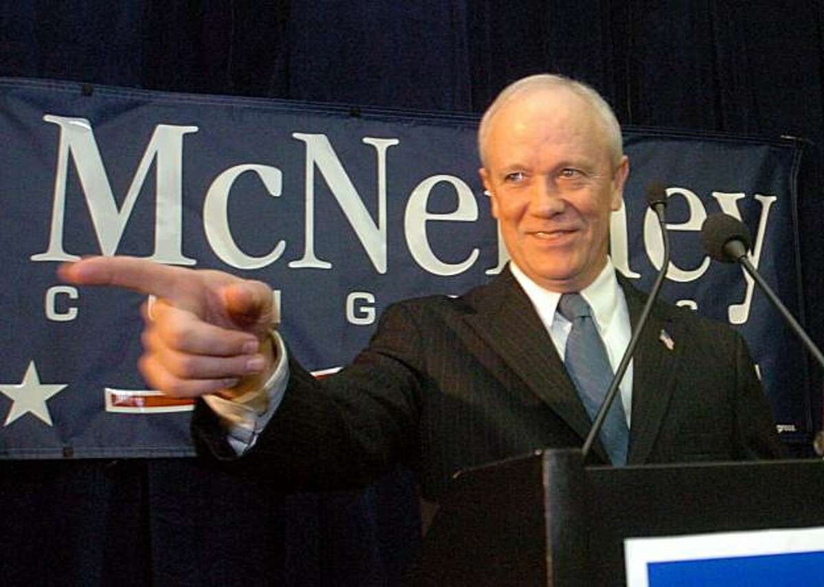 Democratic Congressional candidate Jerry McNerney speaks to supporters during his campaign party in San Ramon, Calif., Tuesday, Nov. 7, 2006. (AP Photo/Times, Dean Coppola) ** MAGS OUT NO SALES TV OUT ONLINES OUT MANDATORY CREDIT **