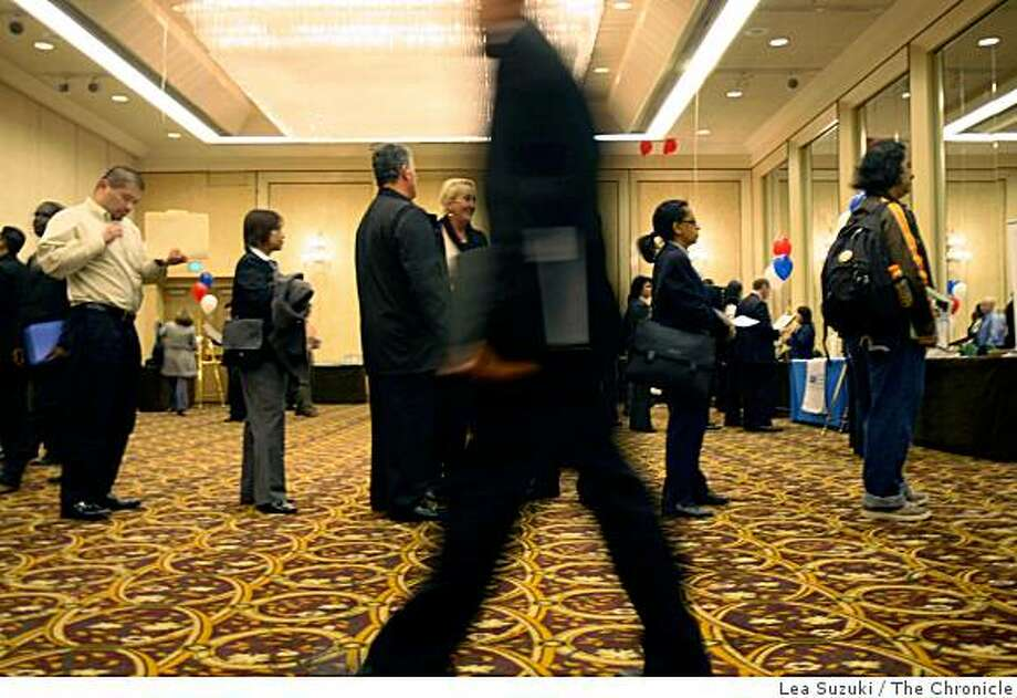 People attend the Diversity Employment Day Career Fair at the Grand Hyatt San Francisco Hotel in San Francisco, Calif. on Tuesday April 14, 2009. Photo: Lea Suzuki, The Chronicle
