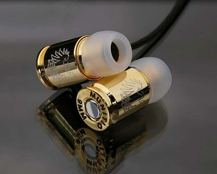 Munition Nine Millimeter Earphones: They sound great but may not be airport friendly. Photo: Muitio