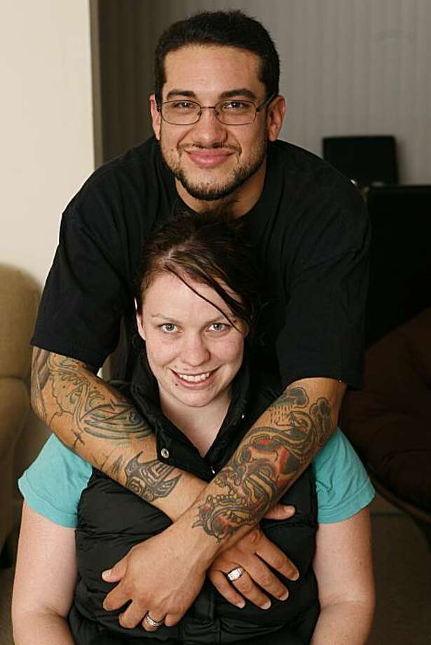 For 9 years, Deveri Hansen suffered from fibromyalgia, but ever since meeting her boyfriend Carlos Hurtado this year, her condition has improved and induced less pain in her daily life.  Deveri Hansen and Carlos Hurtado have their photo taken at their home in Campbell, Calif on Friday, Oct. 29, 2010. Photo: Kirsten Aguilar, The Chronicle