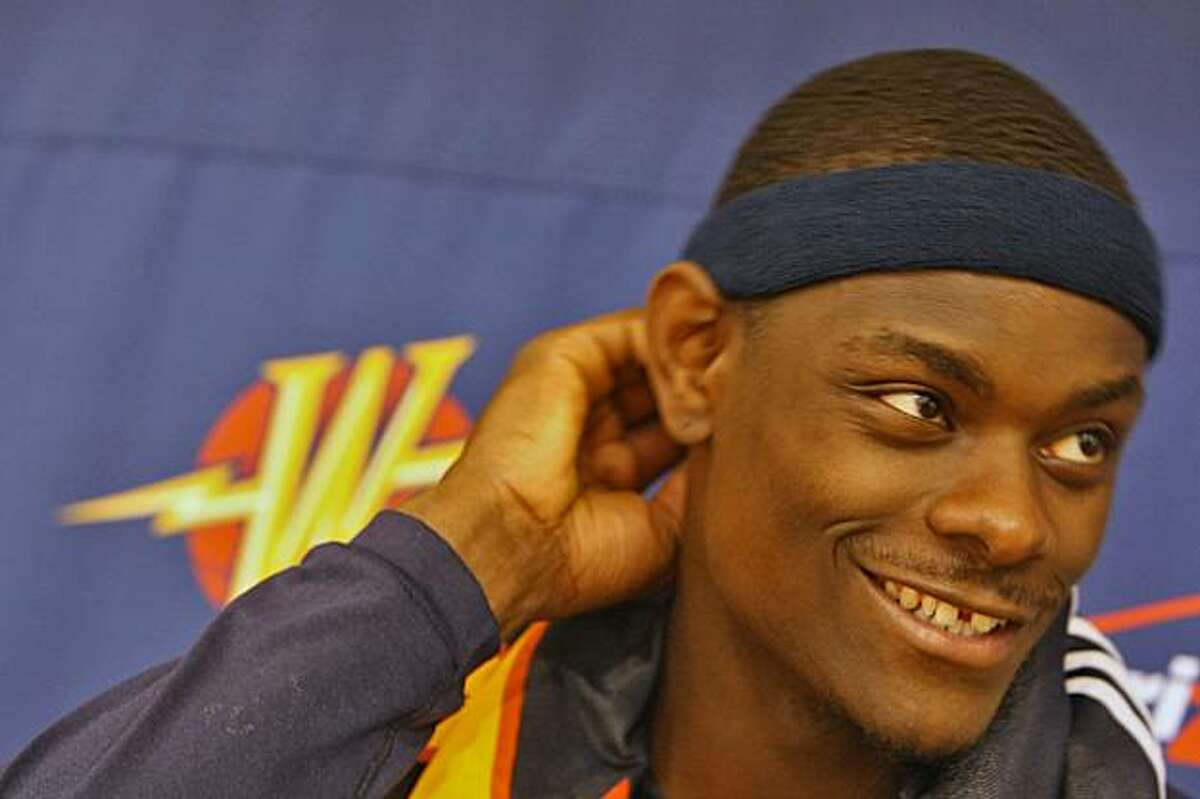 Golden State Warriors Anthony Morrow talks with reporters after practice at the Warriors facility, Monday Nov. 17, 2008, in Oakland, Calif.