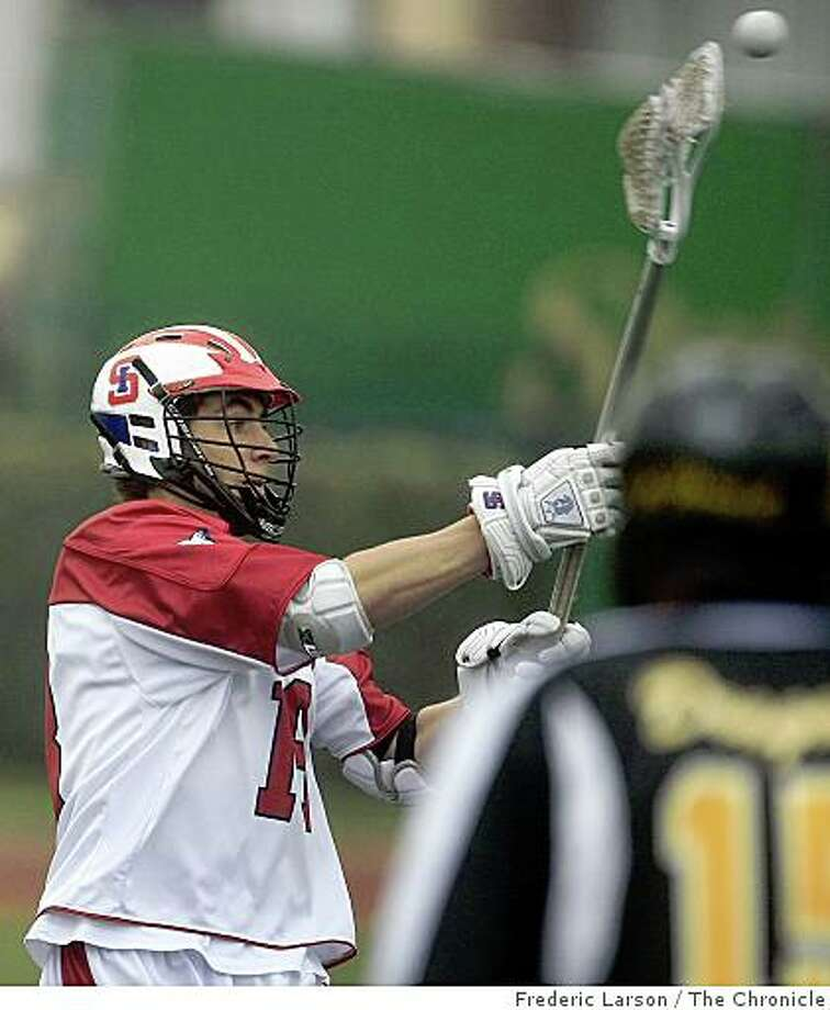 Rob Emery (18 left) on the St. Ignatius LaCrosse team played against Bishop O'Dowd at St. Ignatius in San Francisco on April 9, 2009. Photo: Frederic Larson, The Chronicle