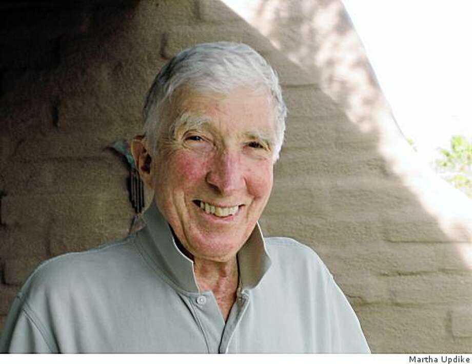 """John Updike  photographed by Martha Updike to run with the review of his new book of peoms called """"Endpoint."""" Photo: Martha Updike"""